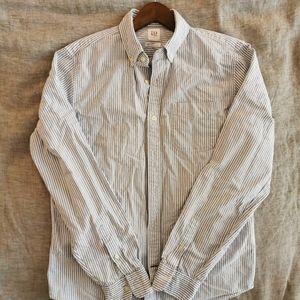 Men's GAP blue and white stripe slim fit oxford